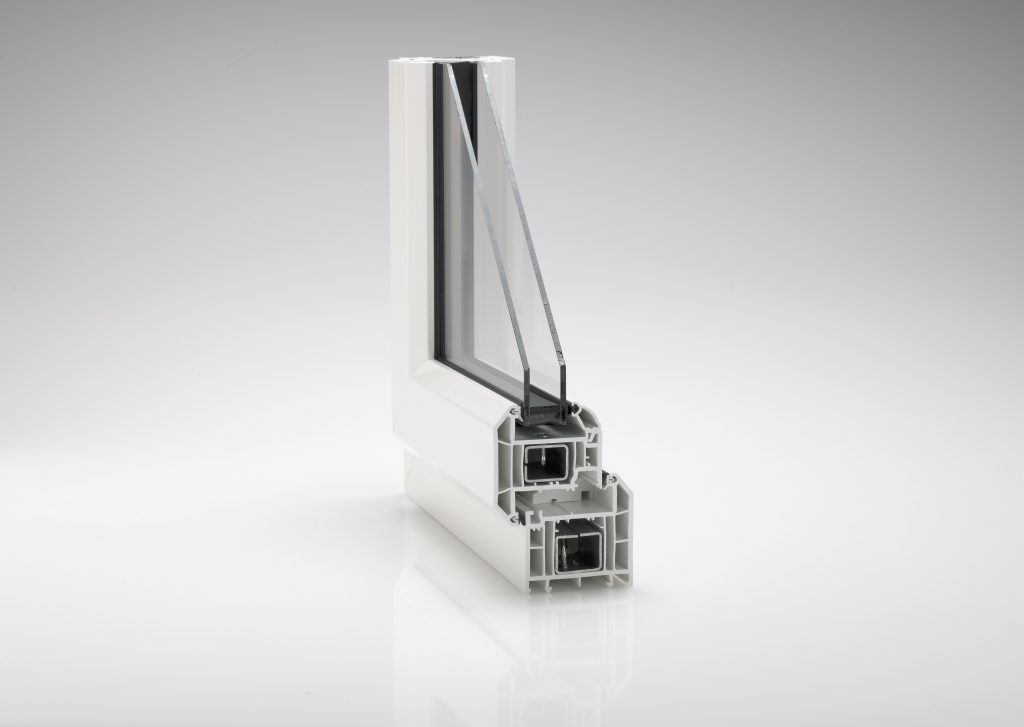 Rehau Total70 C Window cross section